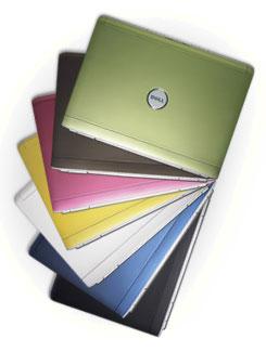 Разноцветные ноутбуки DELL Inspiron